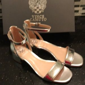 fded75ec0b Vince Camuto Shoes - Vince Camuto Shetana silver sandals new with box